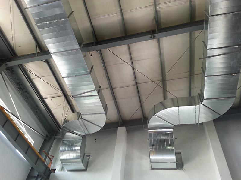 雷盟廠房降溫工程:橢圓風管案例